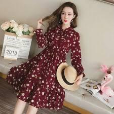 <b>Korean Fashion Chiffon</b> Dresses for <b>Women</b> for sale | eBay