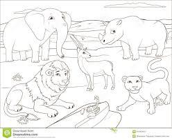Gioco Educativo Del Libro Da Colorare Per I Bambini Illustrazione