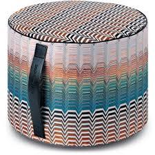 home cylinder pouf santafe