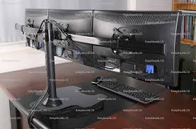 deluxe triple monitor stand free