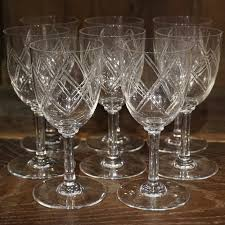 1920s baccarat crystal glasses crystal baccarat crystal glasses antique