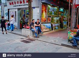 china guangdong province shenzhen dafen oil painting village dafen village is one of the largest ion centers for oil