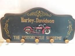 Harley Davidson Coat Rack Wooden coat rack Harley Davidson second half of the 100th century 45