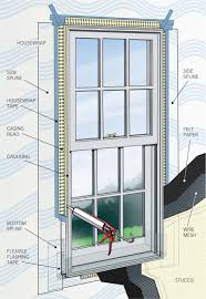 how to flash windows in stucco walls