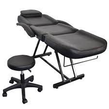 massage table and chair. Salon SPA Black Massage Bed Tattoo Chair Facial Adjustable Table Acupuncture And U