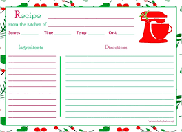 Recipe Template Word Excel Recipe Template For Chefs Resources Standardized Form