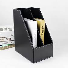 a4 2 slot wood desk file book stand storage box holder wooden doent tray filing organizer doentation rack black 221a in file tray from office school