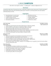 Resume Examples For Retail Sales Associate Retail Sales Resume Example Skinalluremedspa Com