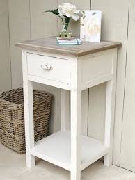... Full size of Provencal Perfect 2drawer White Bedside Table Settler  Wooden White Round Bedside Table Off