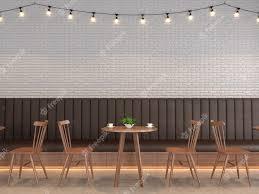 loft style coffee with white brick