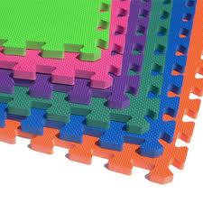 Interlocking Rubber Floor Tiles Kitchen Greatmats Premium Black 24 In X 24 In X 5 8 In Foam