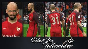 Pes 2017 Aleix Vidal Face With Tattoo By Robertpes Facemaker Pes Patch
