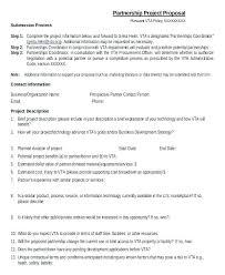 Partnership Proposal Samples Partnership Proposal Sample Project Business Template Word