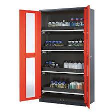 storage cabinet free standing hinged door with glass doors