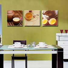 extremely ideas kitchen wall art decor 3 piece canvas dinning room oil painting tea pot decorative