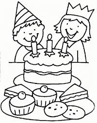 Small Picture Coloring Pages Delicious Birthday Cake Coloring Page Birthday