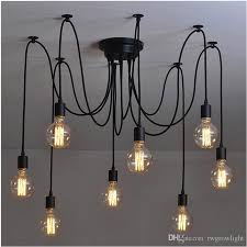 2018 diy darling flower chandelier modern nordic retro hanging pendant lights fixtures spider ceiling lamp fixture light for room from rwgrowlight