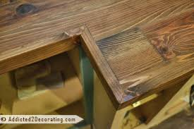 make a diy wood countertop with 2 by 4 lumber