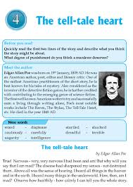 the tell tale heart by edgar allan poe reading test teacher literature grade 8 short stories the tell tale heart 1