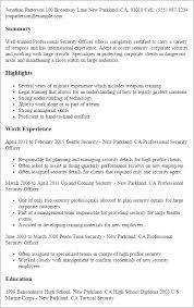 Security guard job resume samples Resume Templates Hospital Security Officer
