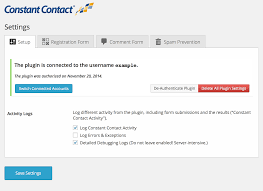 constant contact signup form constant contact for wordpress wordpress plugins