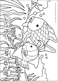 template ideas on rainbow fish two fish color page