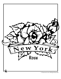 Small Picture New York State Flower Coloring Page Woo Jr Kids Activities
