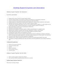 Desktop Support Job Description Resume New Desktop Support Job