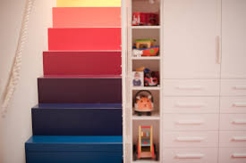 terrific staircase near colorful steps to matched with clear painting along with furnishign for little