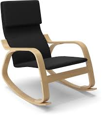 volo contemporary rocking chair – black  the brick