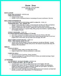 resume objective examples college graduate ...