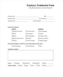 employee termination form template employee termination form template free employee termination