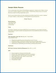 Resume Sample Waiter Objective For Resume Waitress Resume Template Waiter Objective 48