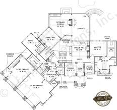 Big Canoe House Plans   Home Plans By Archival DesignsBig Canoe House Plan   Big Canoe   Rustic Floor Plan   Cottage Mountain Lakefront