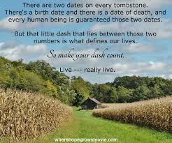Tombstone Quotes Best Make Your Dash Count Knick Of Time
