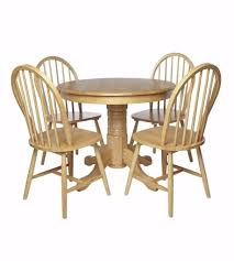 brand new windsor 5 piece 4 wooden chairs 1 rounded table contemporary style dining set