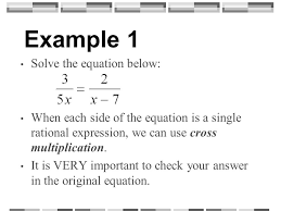 example 1 solve the equation below