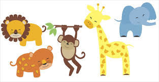 nursery wall decal set jungle animals elephant lion giraffe monkey stickers on baby safari nursery wall art with jungle safari animal set wall decals for nursery decor