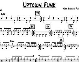 Drum Charts Uptown Funk Bruno Mars Drum Chart Quickgigcharts