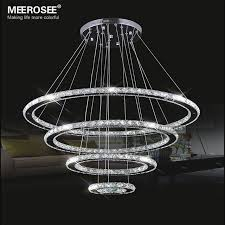 stainless steel lighting fixtures. Mirror Stainless Steel Crystal Diamond Lighting Fixtures 4 Rings Led Pendant Lights Cristal Dinning Decorative Hanging O
