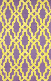 nicolette purple and yellow wool cotton area rug regarding plans 0