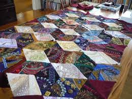 Work in Progress Wednesday: Assembling a crazy quilt in sections ... & I am nearly there as you can see with only some large seams to do now. Then  the border goes on. I have purchased bamboo batting which is supposed to be  ... Adamdwight.com