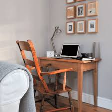 office desk in living room. Living Room Corner With Wooden Desk And Chair Office In B