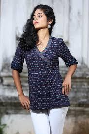 Hyacinth Overlap Top | Stylish tops for women, Short kurti designs, Stylish  tops