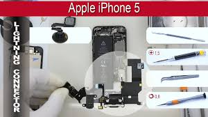 how to replace lightning connector and headphone jack apple iphone 5 a1428 a1429 a1442