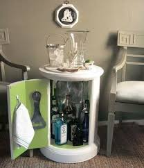 hidden bar furniture. diy bar from end table hidden furniture