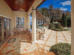 Brick Kitchen Floors Mediterranean Patio With Arbor Exterior Awning In Windermere Fl