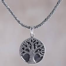 sterling silver tree pendant necklace from indonesia tree of hope