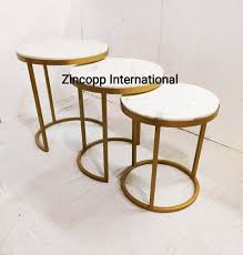 nesting table side tables metal