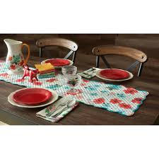 Pioneer Woman Kitchen Remodel Pioneer Woman Charming Check Placemats Pack Of 4 Walmartcom